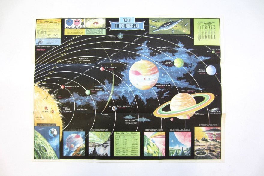 #vintagespacemap #vintageposter #vintagespace #outerspace #decorativeworkVTG